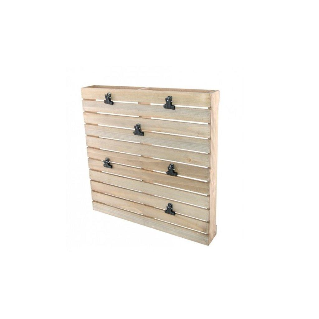 PALETA dekorační dřevěná 40x6x40cm