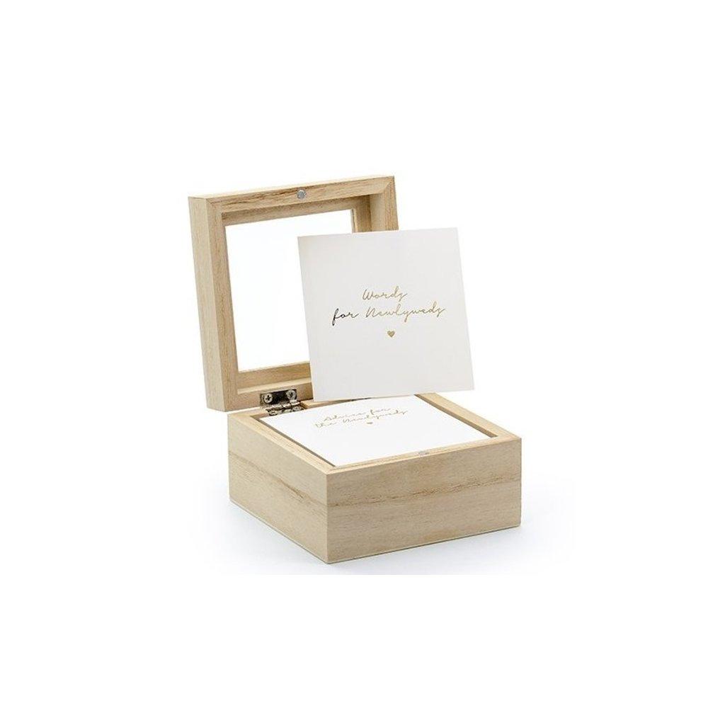 Krabice na přání dřevěná 9,5 x 9,5 x 6 cm