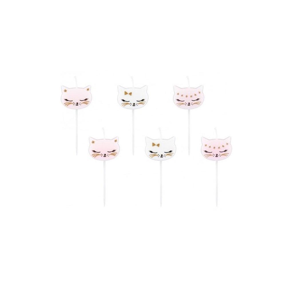 SVÍČKY dortové Kočičí party 6ks