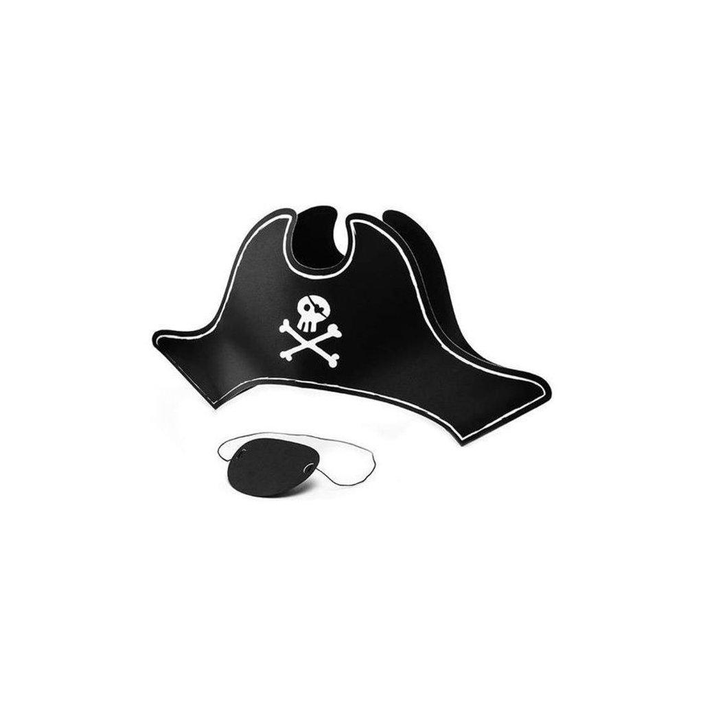 Klobouk pirátský a klapka na oko