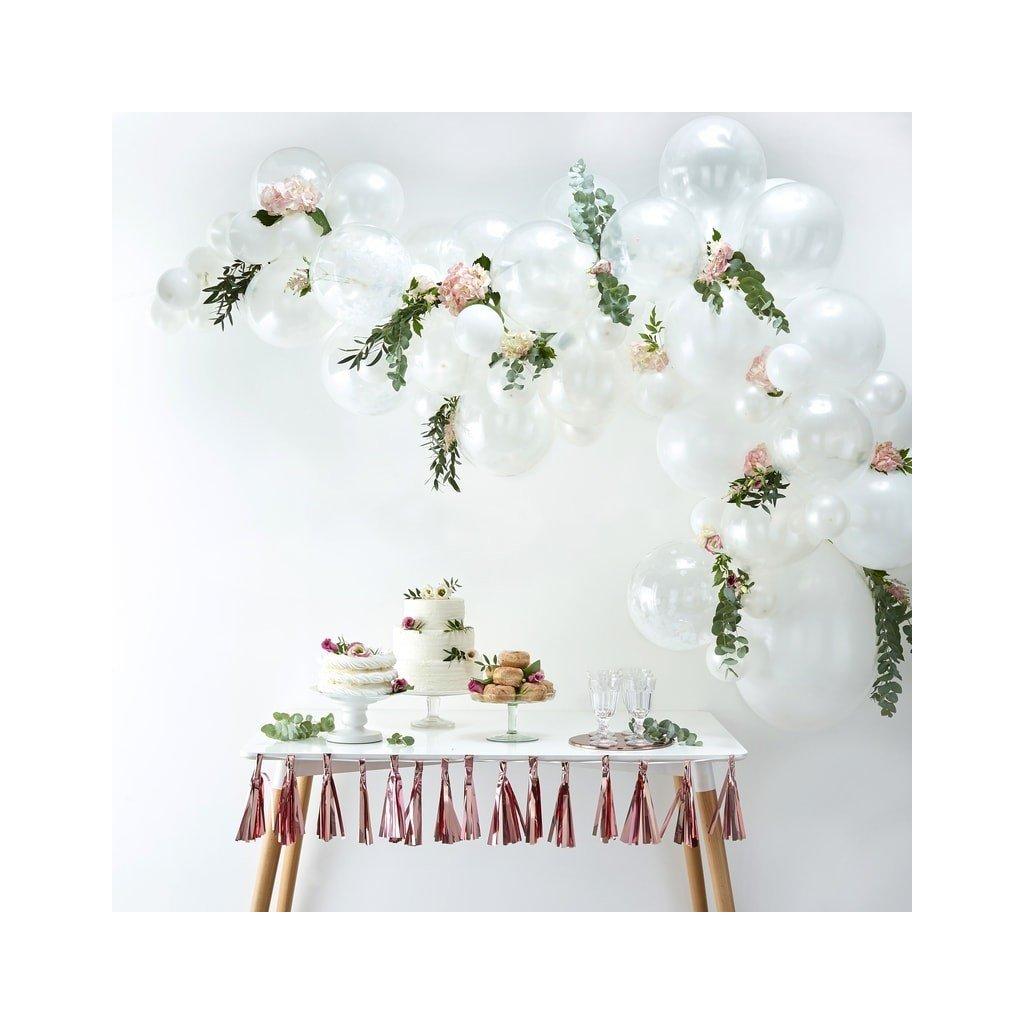 Balonkový set na výrobu balonkového oblouku (girlandy) bílý