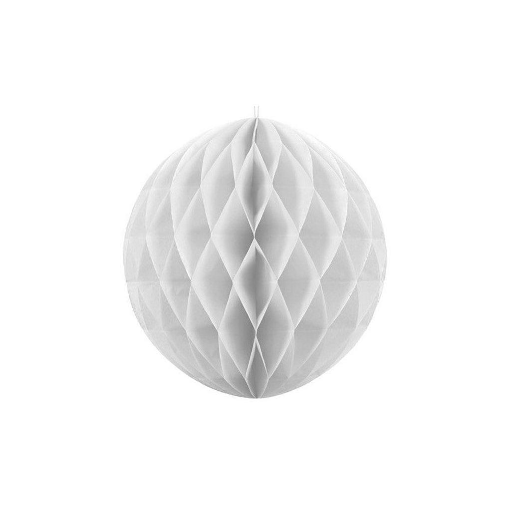 "Koule dekorační ""Honeycomb"" bílá vel.40cm"