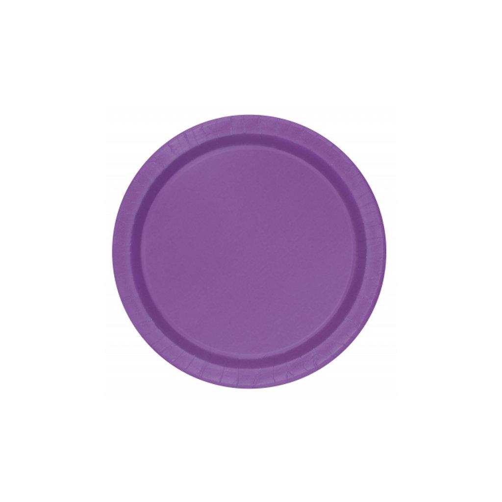 Talíře papírové Pretty Purple kulaté 22cm 8ks