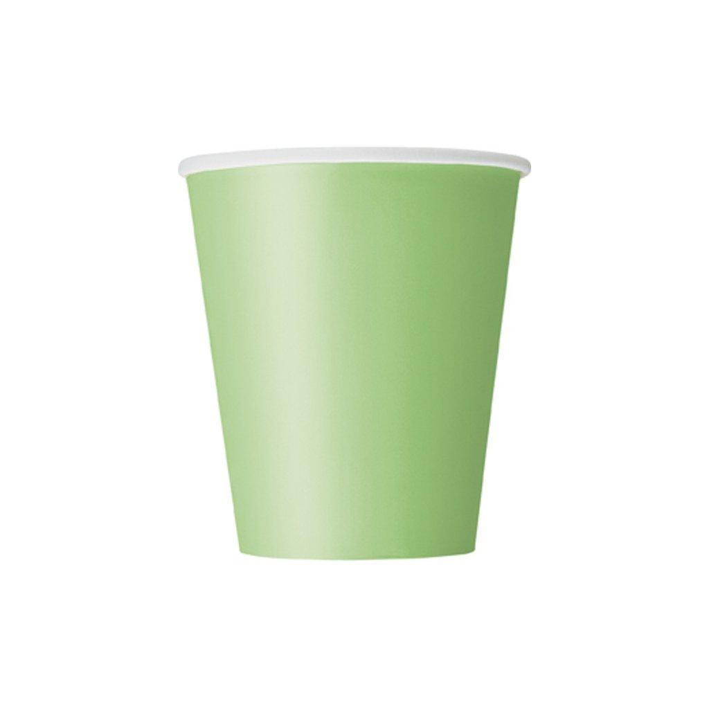 Kelímky papírové Lime Green 270ml 14ks