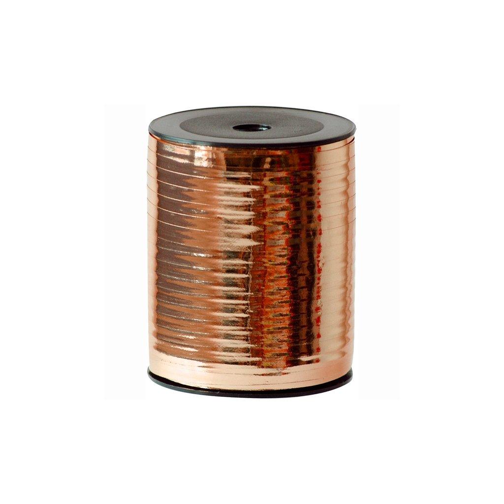 Stuha plastová vázací metalická měděná 7mm/250m