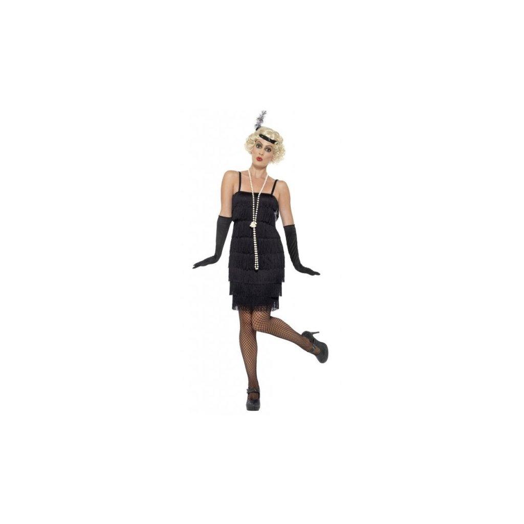 Kostým pro dámy ve stylu 20. léta černý
