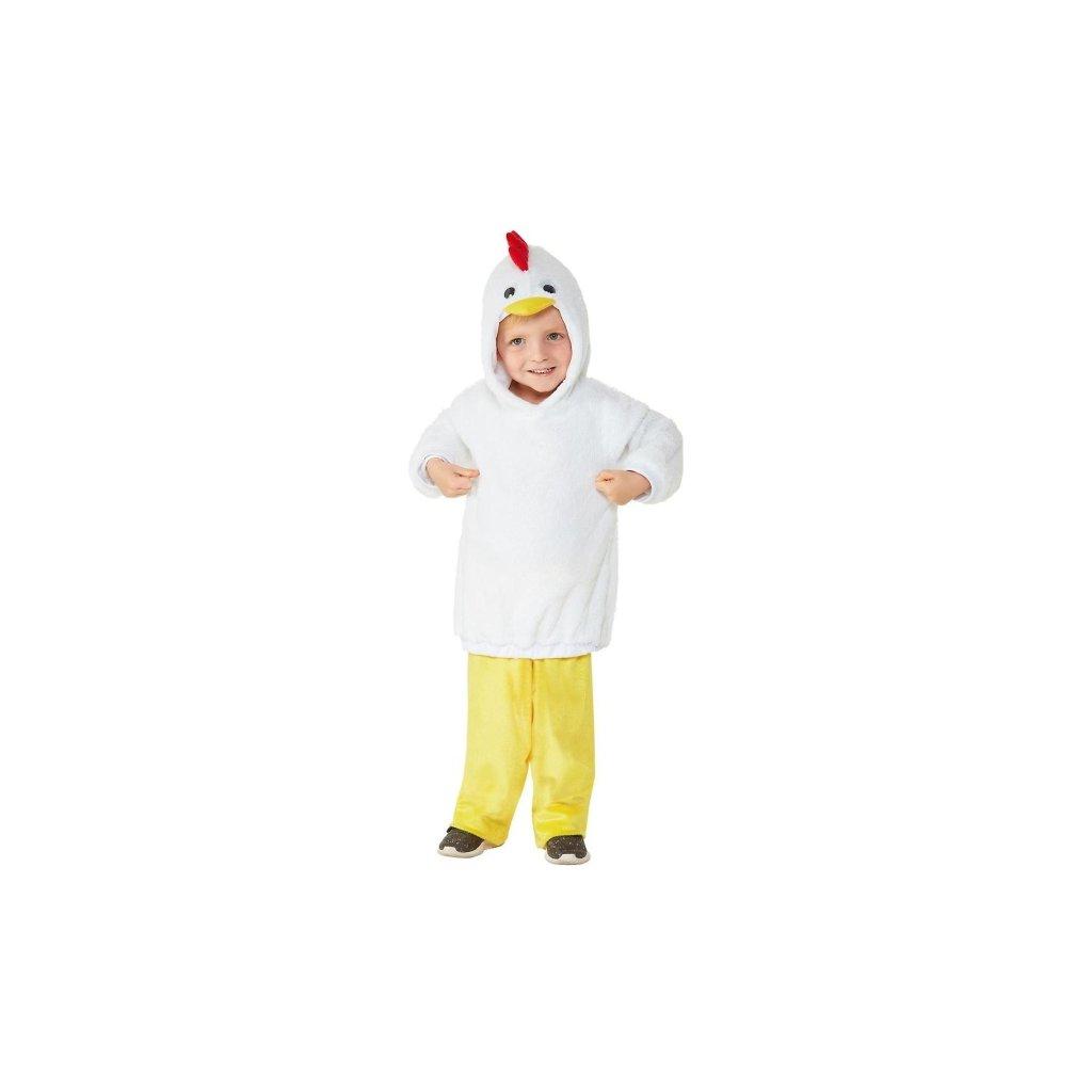 Kostým pro nejmenší ve stylu Kuře Pro batolata ve věku 1 až 2 roky.