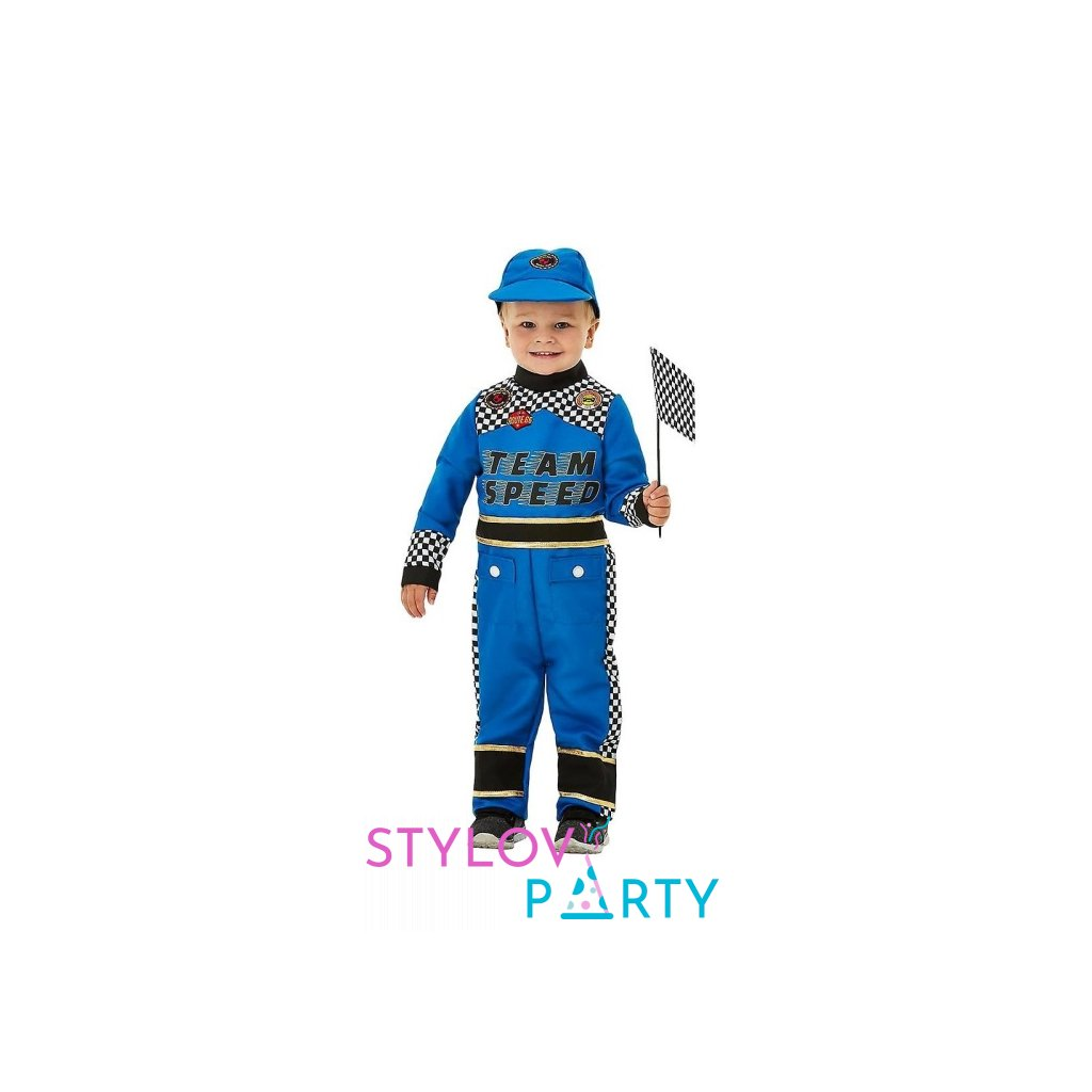 Kostým pro nejmenší Závodník modrý Pro děti ve věku 1 až dva roky