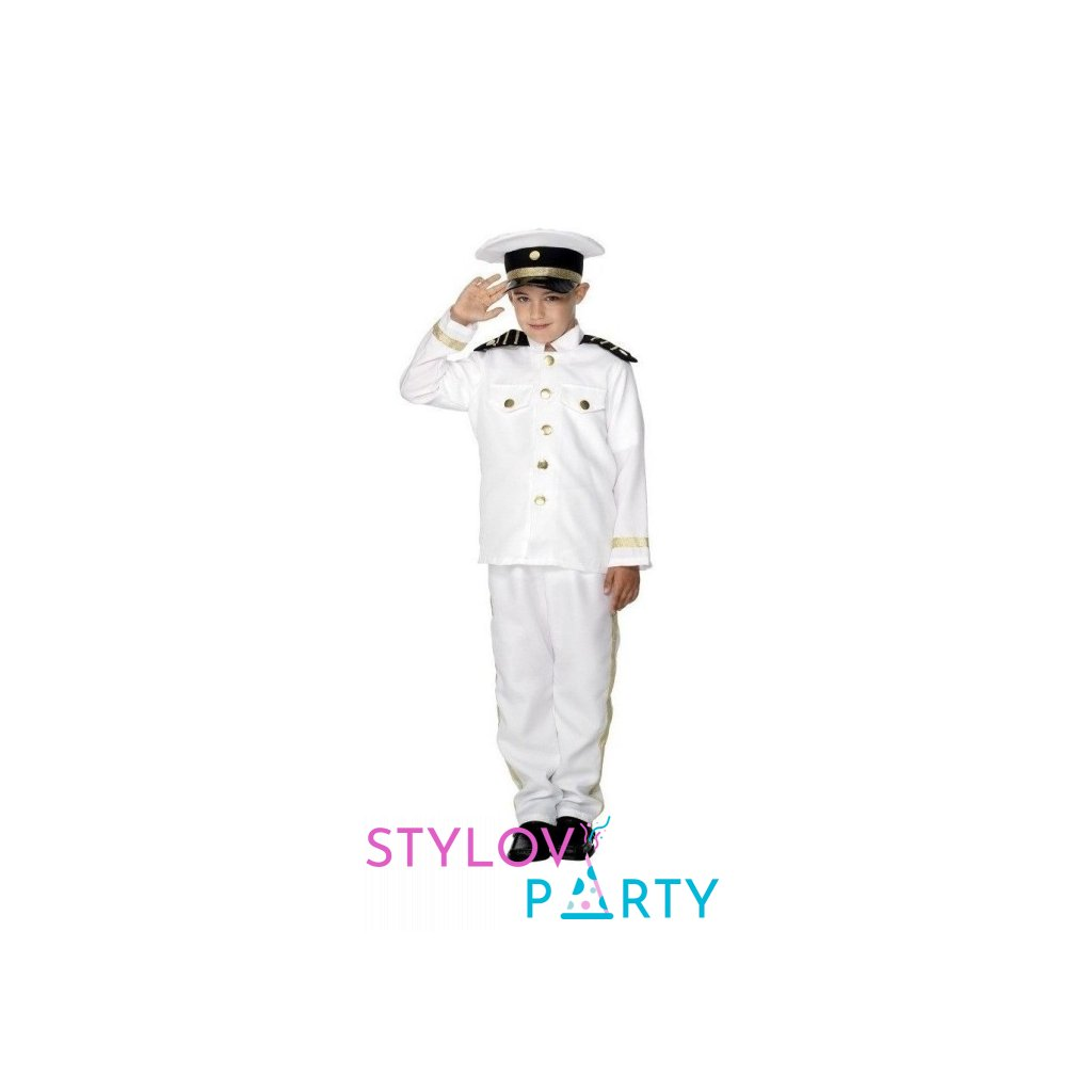 Kostým pro děti ve stylu Námořní kapitán. Velikost M