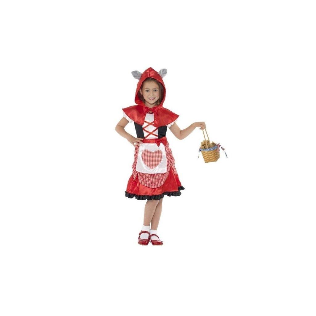 Kostým pro holčičky ve stylu Červená Karkulka. Velikost S