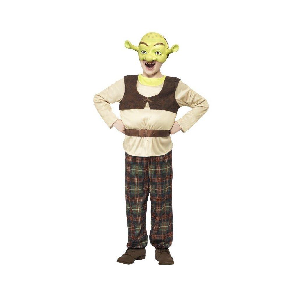 Kostým pro děti ve stylu Shrek. Velikost M, 1 ks