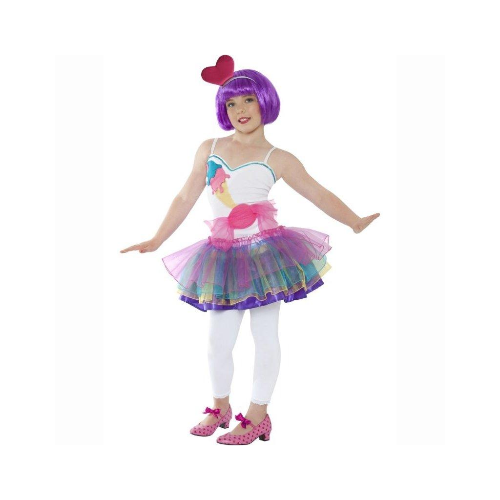 Kostým Candy girl barevný M dětský