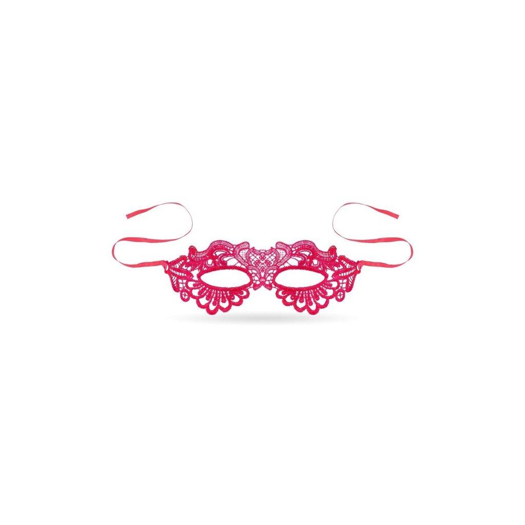 Maska krajková pro dospělé ve stylu Pink Lady