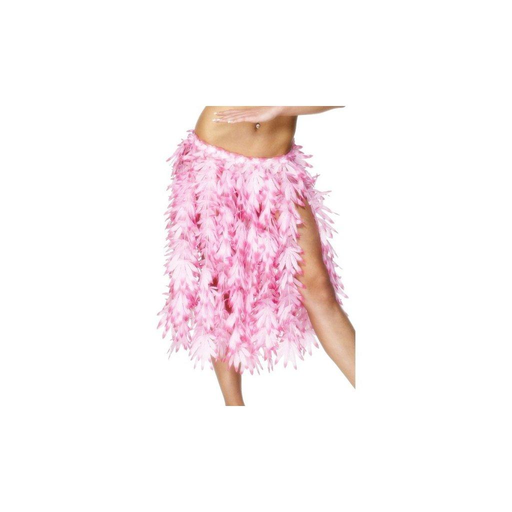 Sukně ve stylu Hawai růžová barva