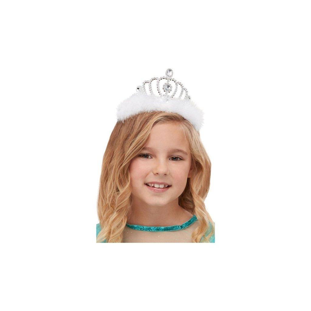 Korunka stříbrná pro holčičky ve stylu Princezna