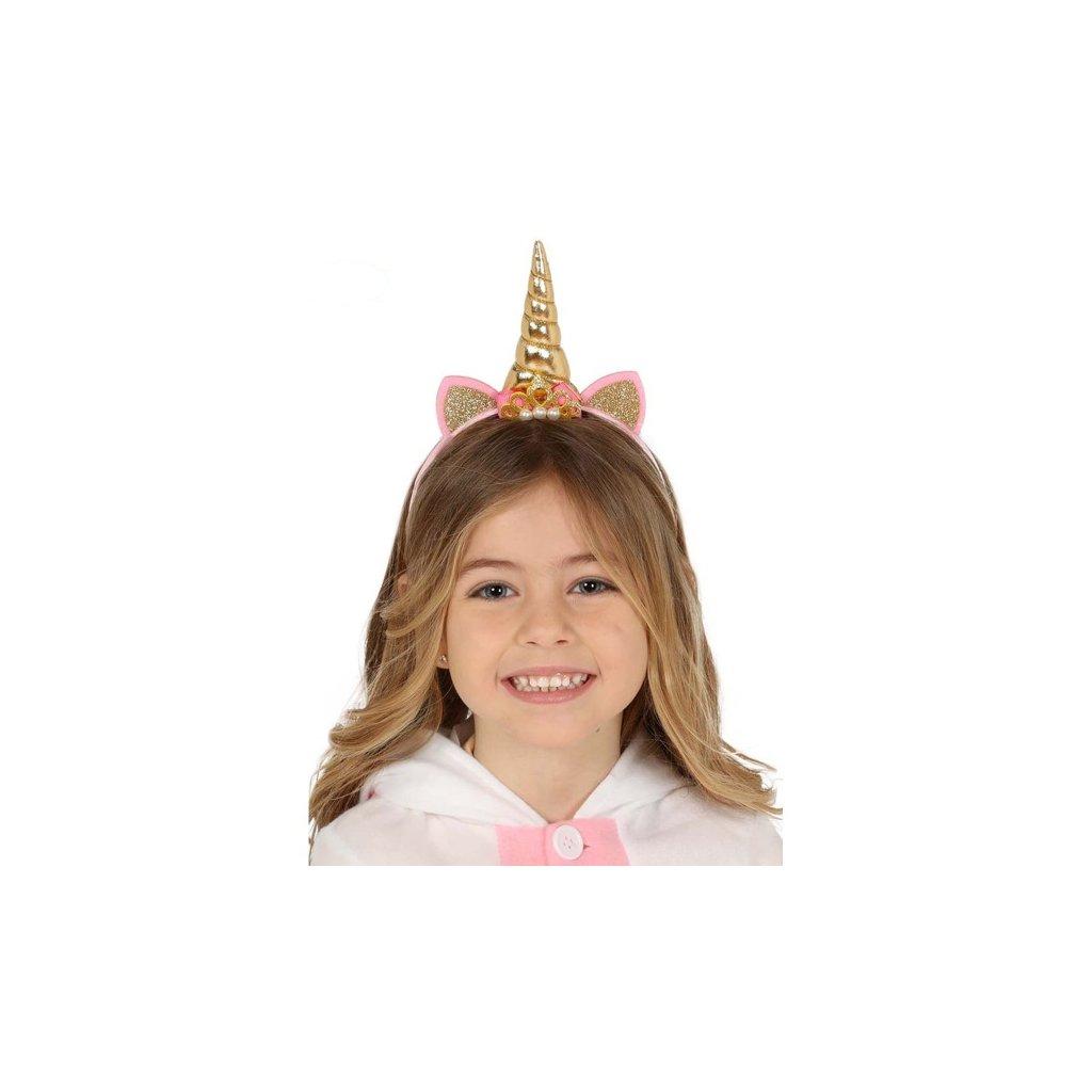 Čelenka pro děti ve stylu Jednorožec s ušima