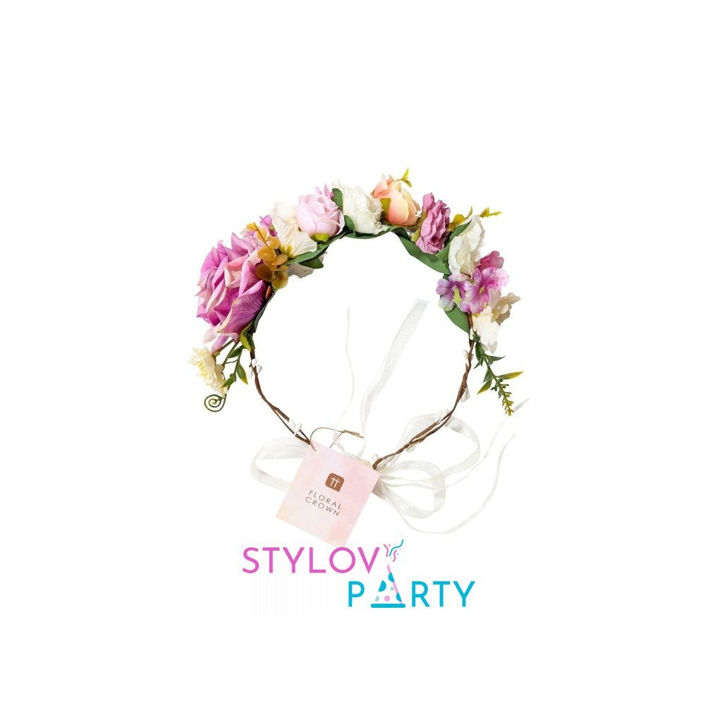 Čelenka Floral Crown barevné květy