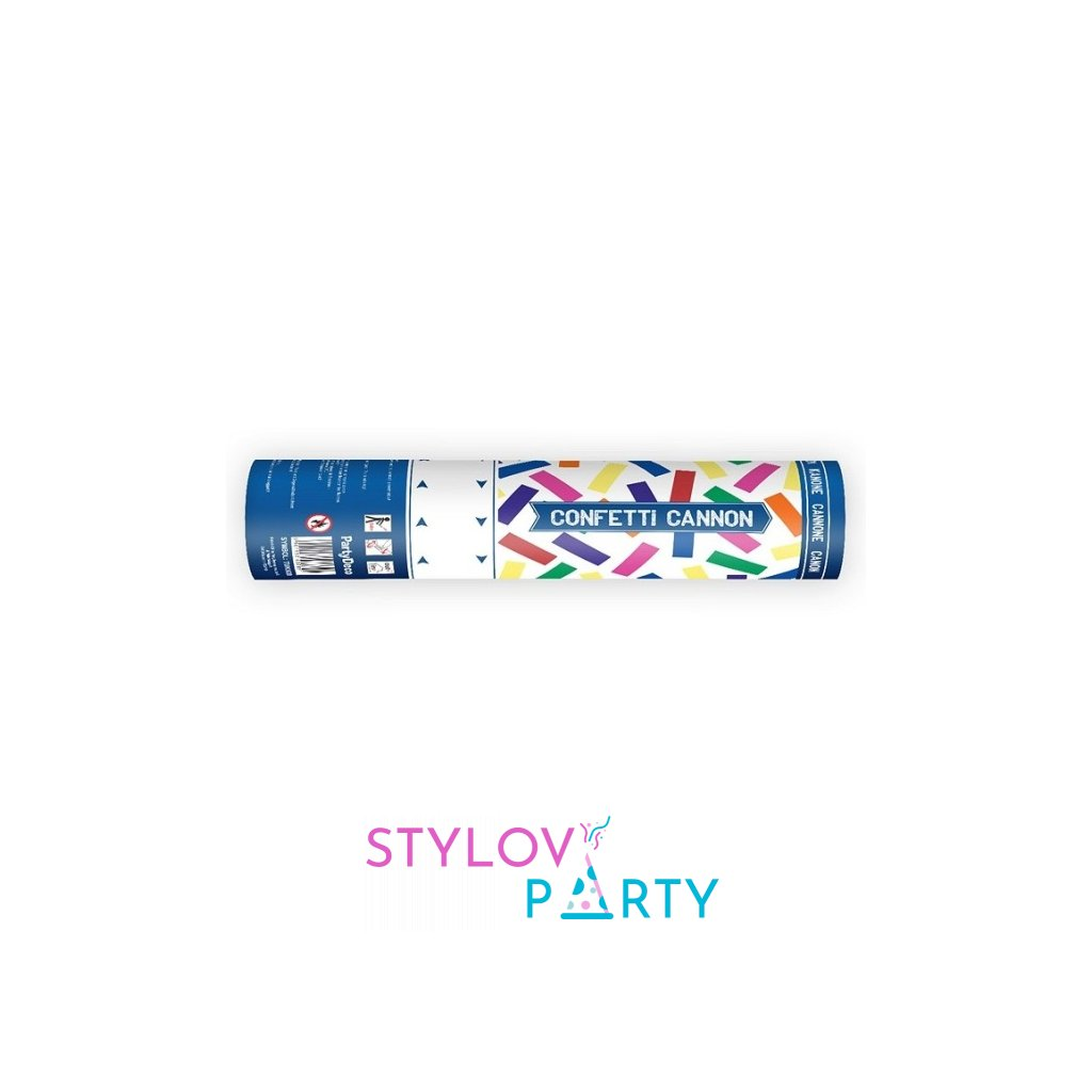 Vystřelovací konfety 40cm barevný mix