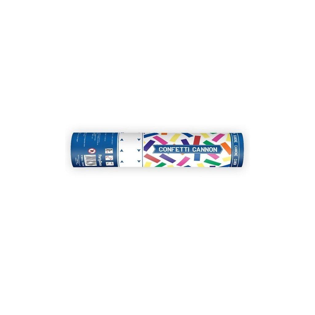 Vystřelovací konfety 20cm barevný mix