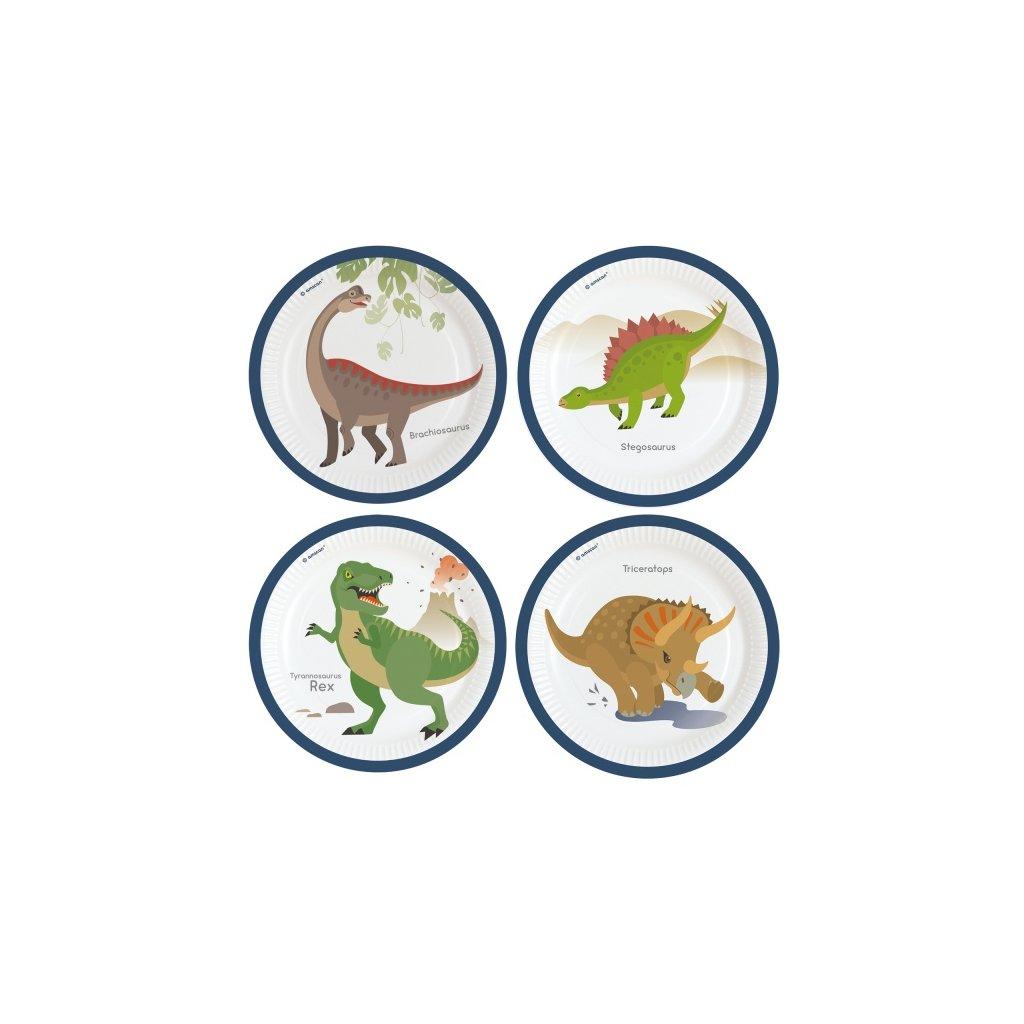 Talíře Dino mix druhů 8ks