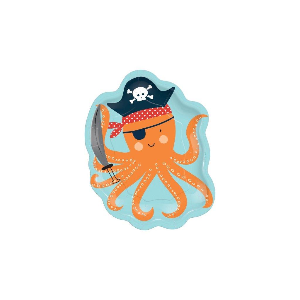 Talíře námořnické Chobotnice Ahoy! 8ks