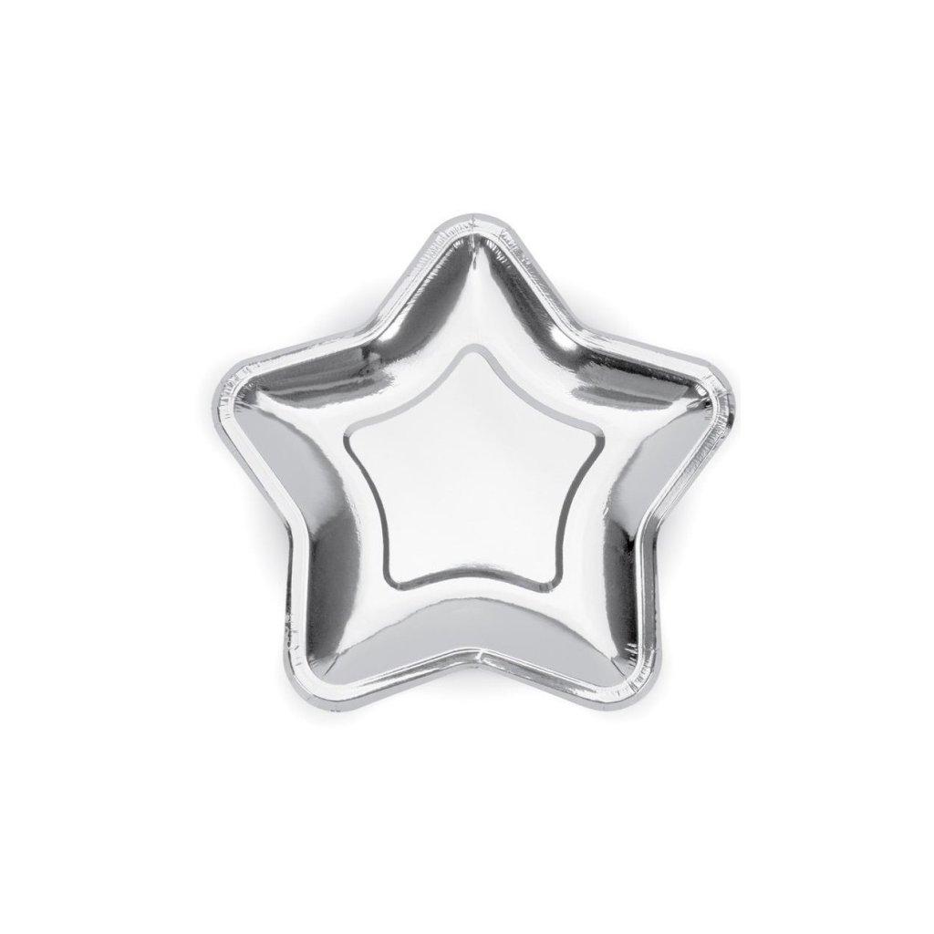 Talíře Hvězda stříbrné 6 ks