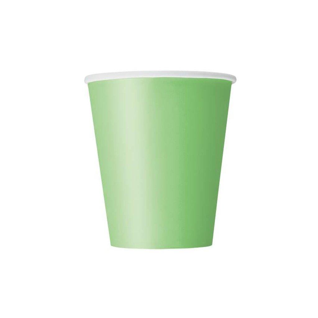 Kelímky papírové Lime Green 270ml 8ks