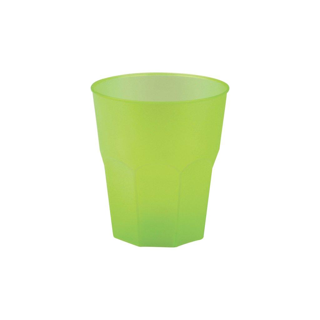 Skleničky plastové koktejlové zelené 350ml 20ks