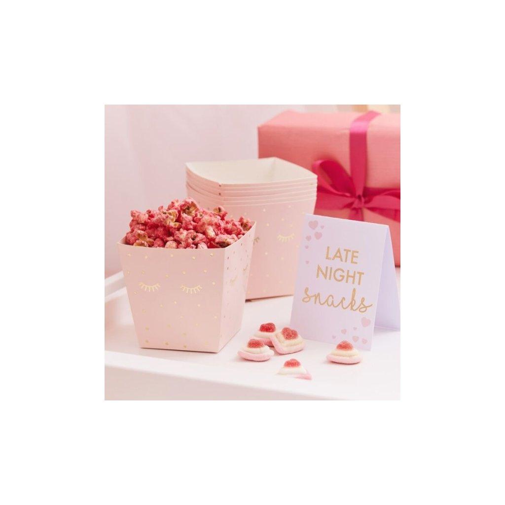 Sada krabiček na popcorn Pamper party 8 ks