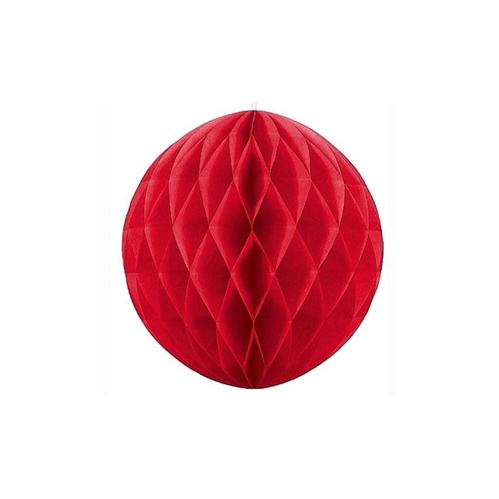 """Koule dekorační """"Honeycomb"""" červená vel. 20cm"""