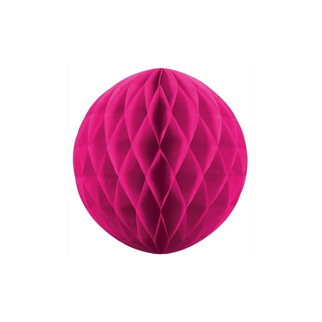 """Koule dekorační """"Honeycomb"""" magenta vel. 10cm"""