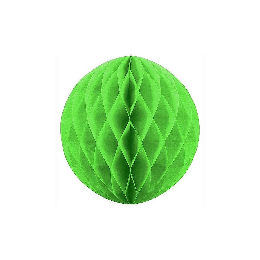 """Koule dekorační """"Honeycomb"""" neonově zelená vel. 20cm"""
