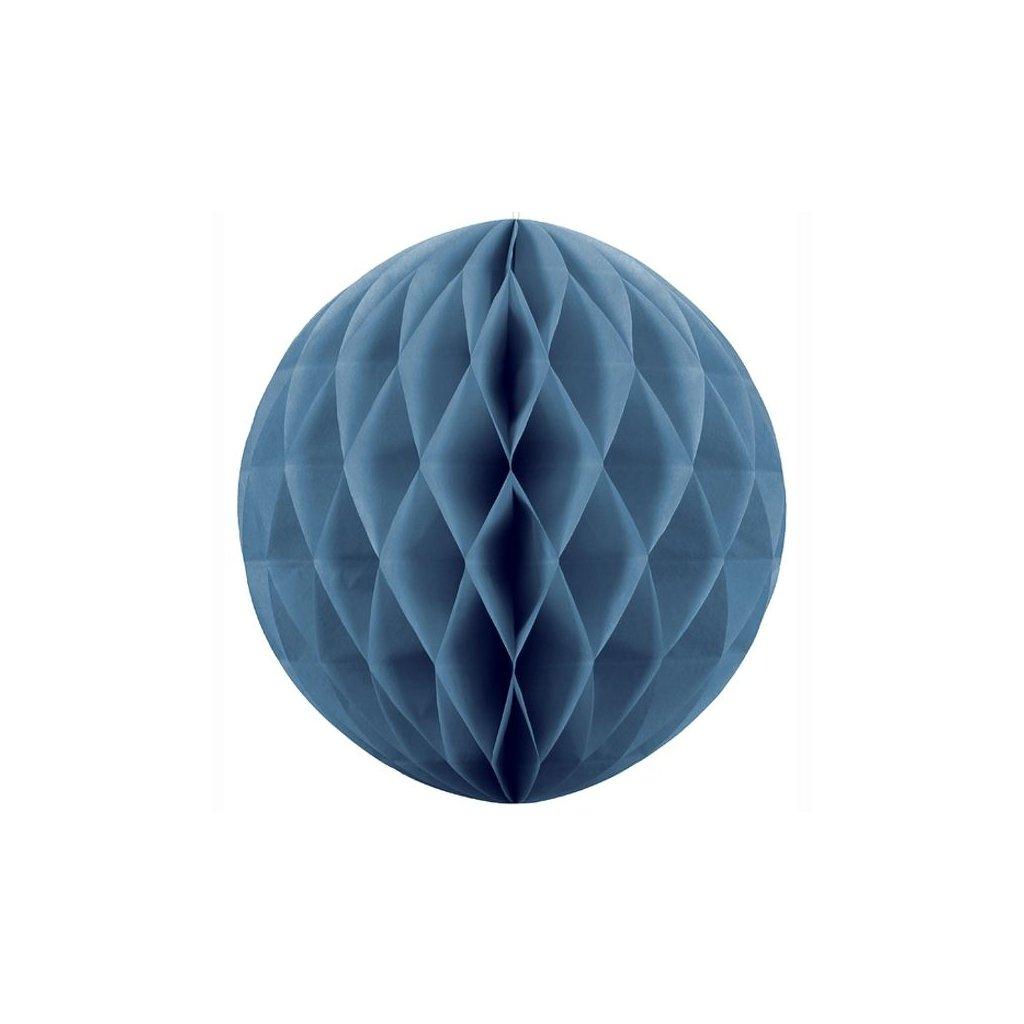 "Koule dekorační ""Honeycomb"" modrá vel. 40cm"