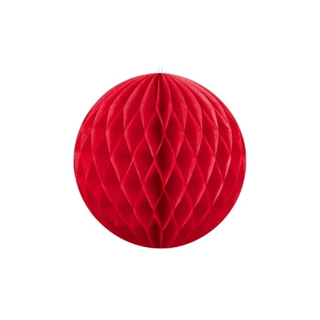 """Koule dekorační """"Honeycomb"""" červená vel. 40cm"""