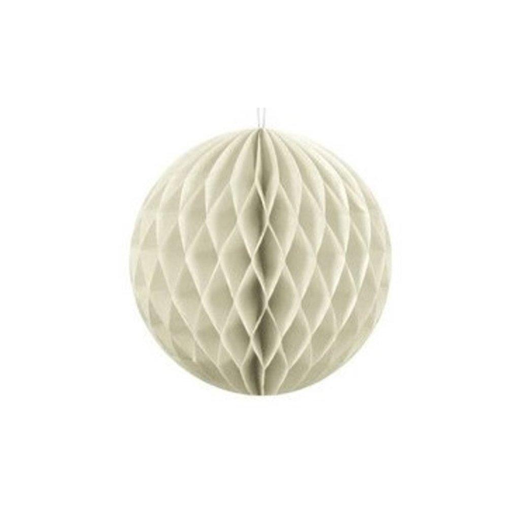 """Koule dekorační """"Honeycomb"""" krémová vel. 20cm"""
