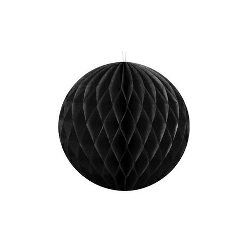 """Koule dekorační """"Honeycomb"""" černá vel. 10cm"""