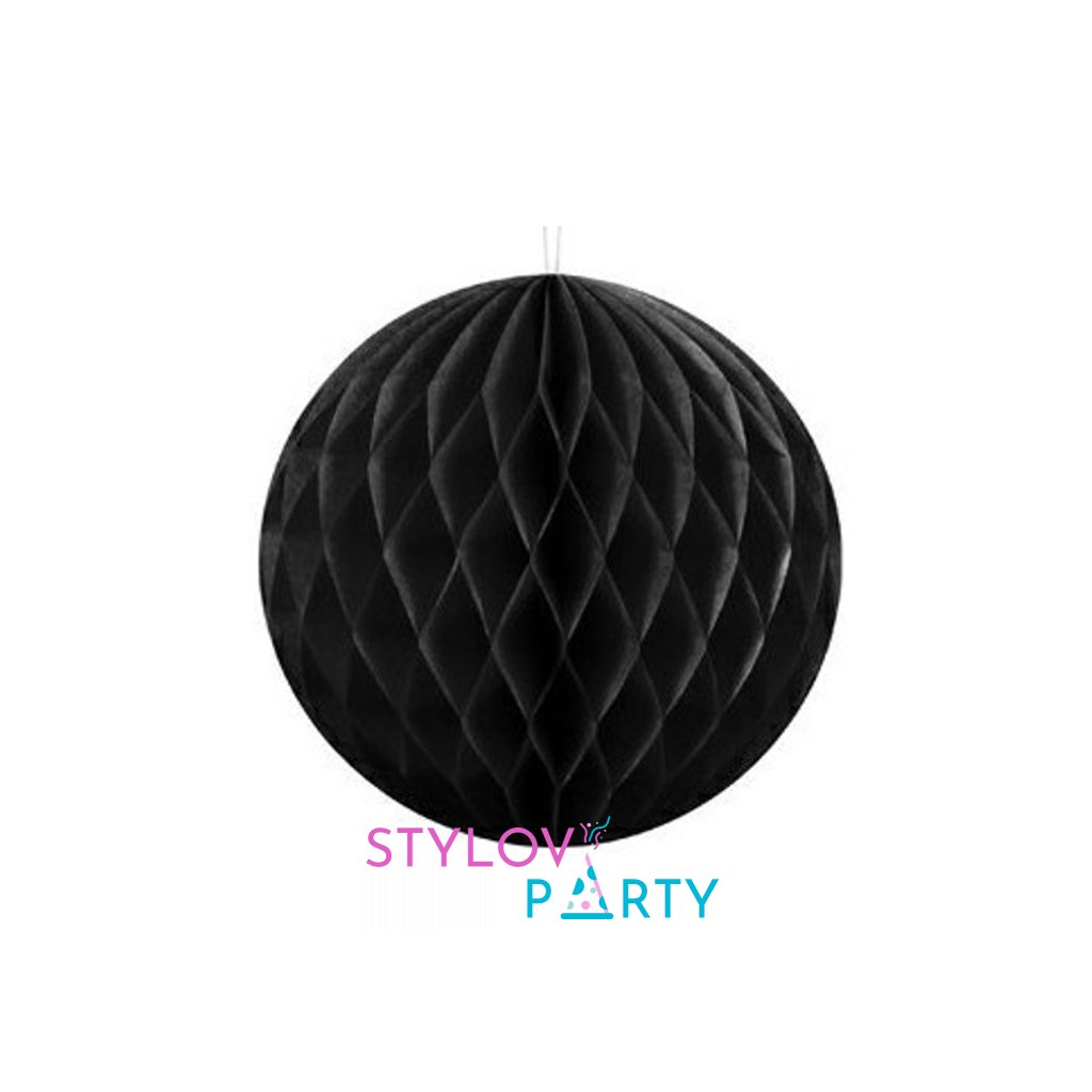 """Koule dekorační """"Honeycomb"""" černá vel. 30cm"""