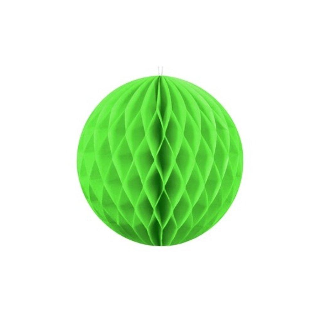 """Koule dekorační """"Honeycomb"""" neonově zelená vel.  10cm"""