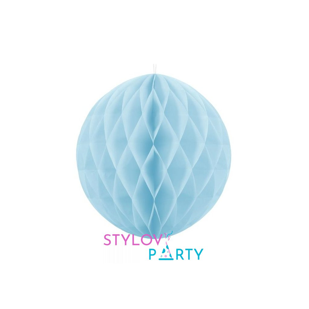 "Koule dekorační "" Honeycomb"" modrá vel. 40cm"