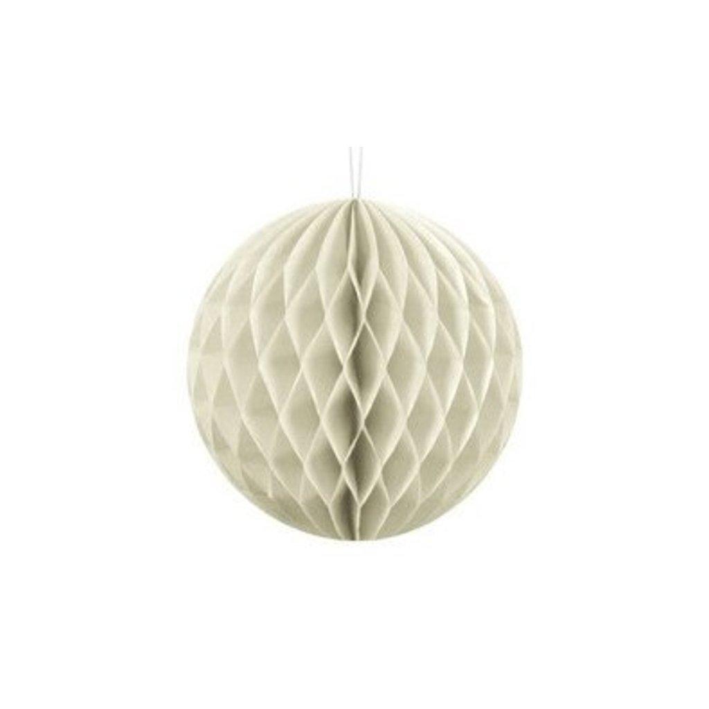 """Koule dekorační """"Honeycomb"""" krémová vel. 10cm"""