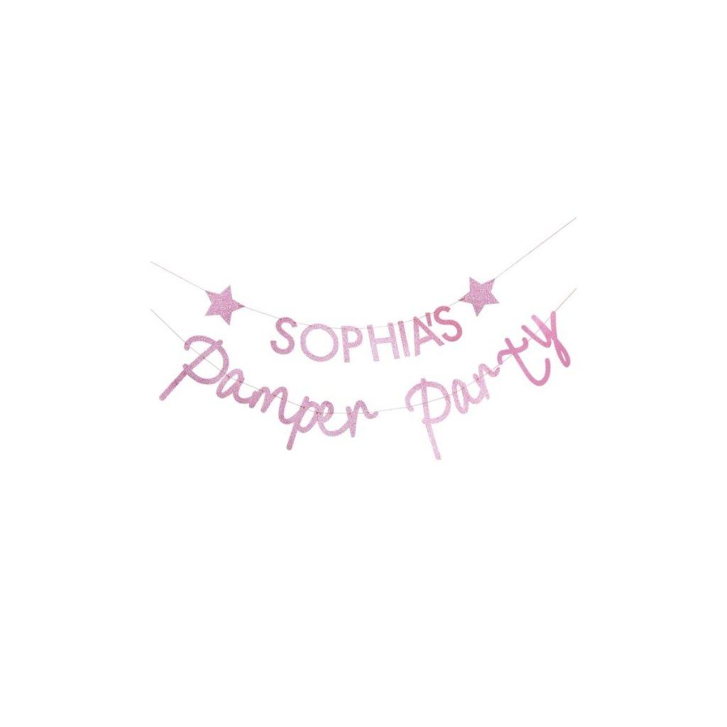 Girlanda Pamper party se jménem 2,5m