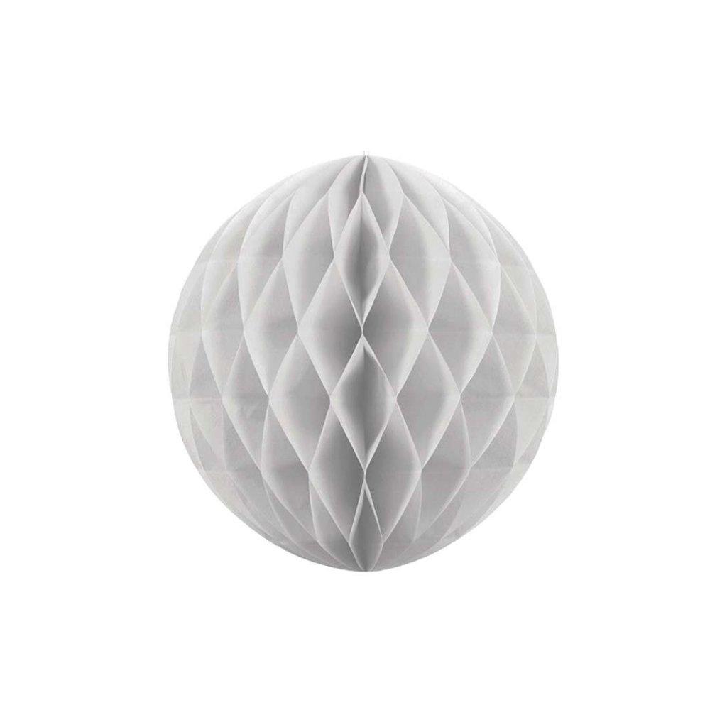 "Koule dekorační "" Honeycomb"" šedá vel. 10cm"