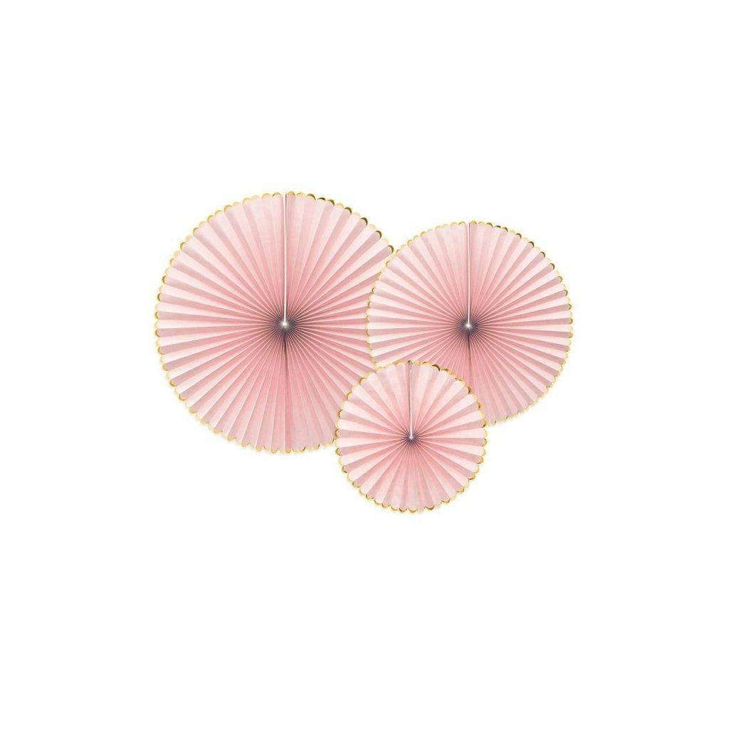 Rozety Yummy pastelově růžové 3ks