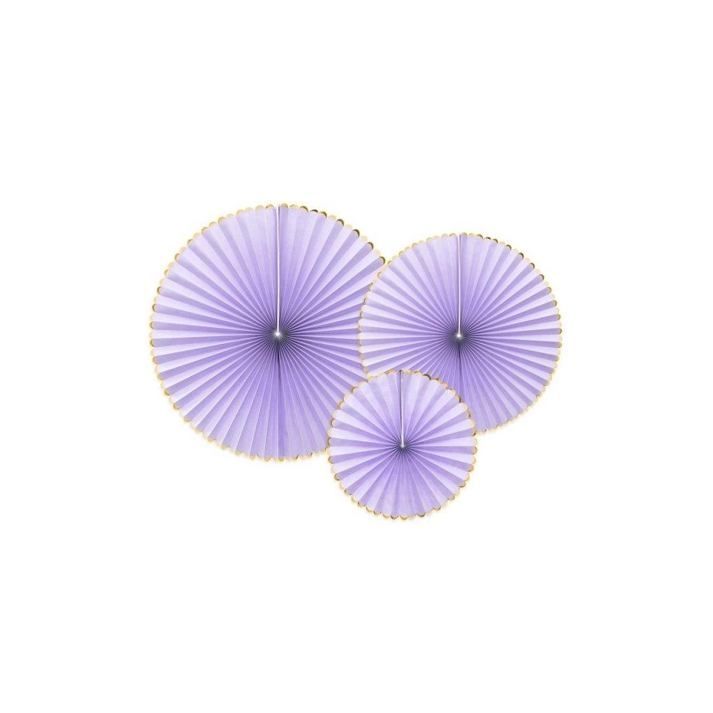 Rozety Yummy pastelová lila 3ks