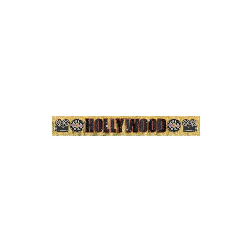 Banner nápis Hollywood 3m