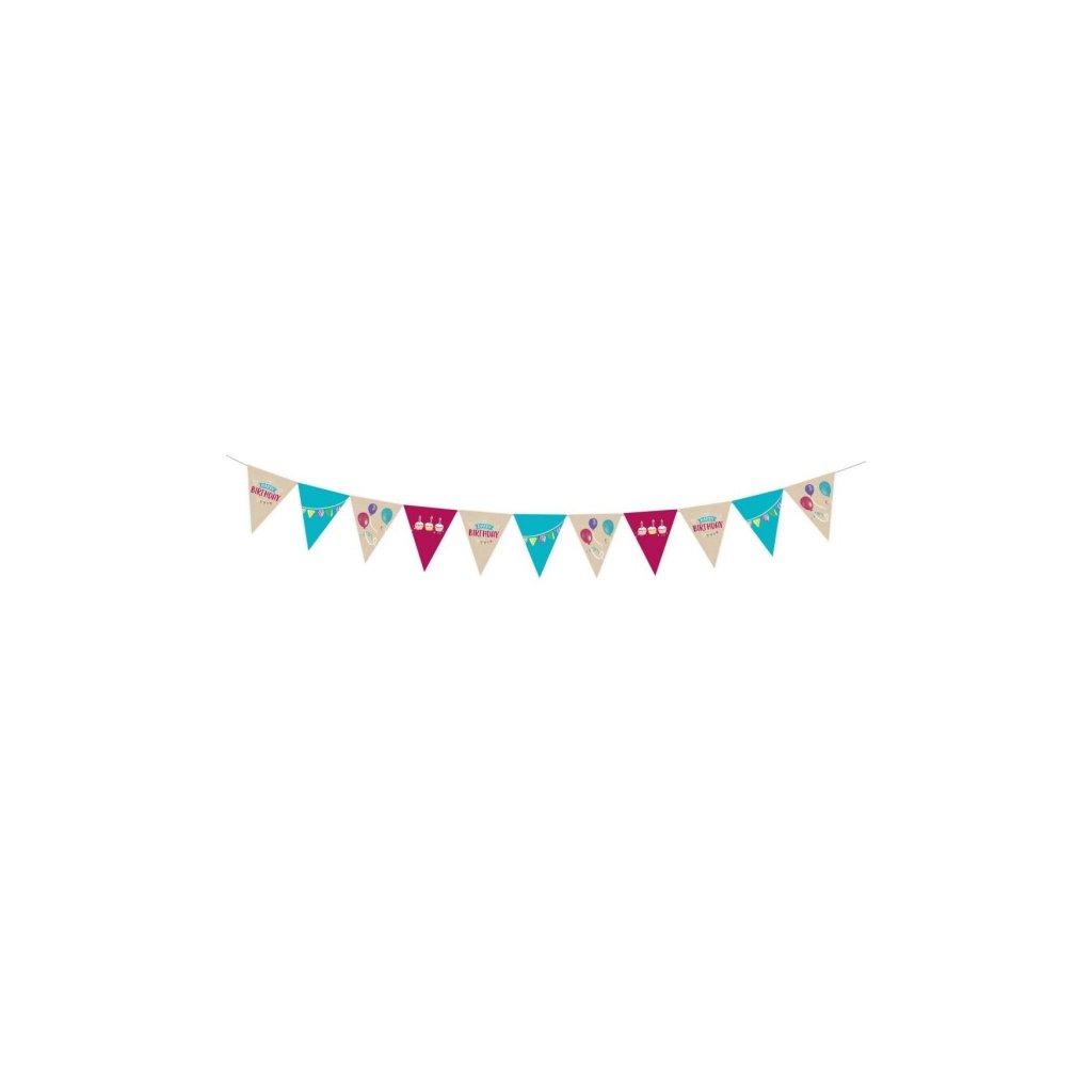 Girlanda vlaječková My Birthday Party