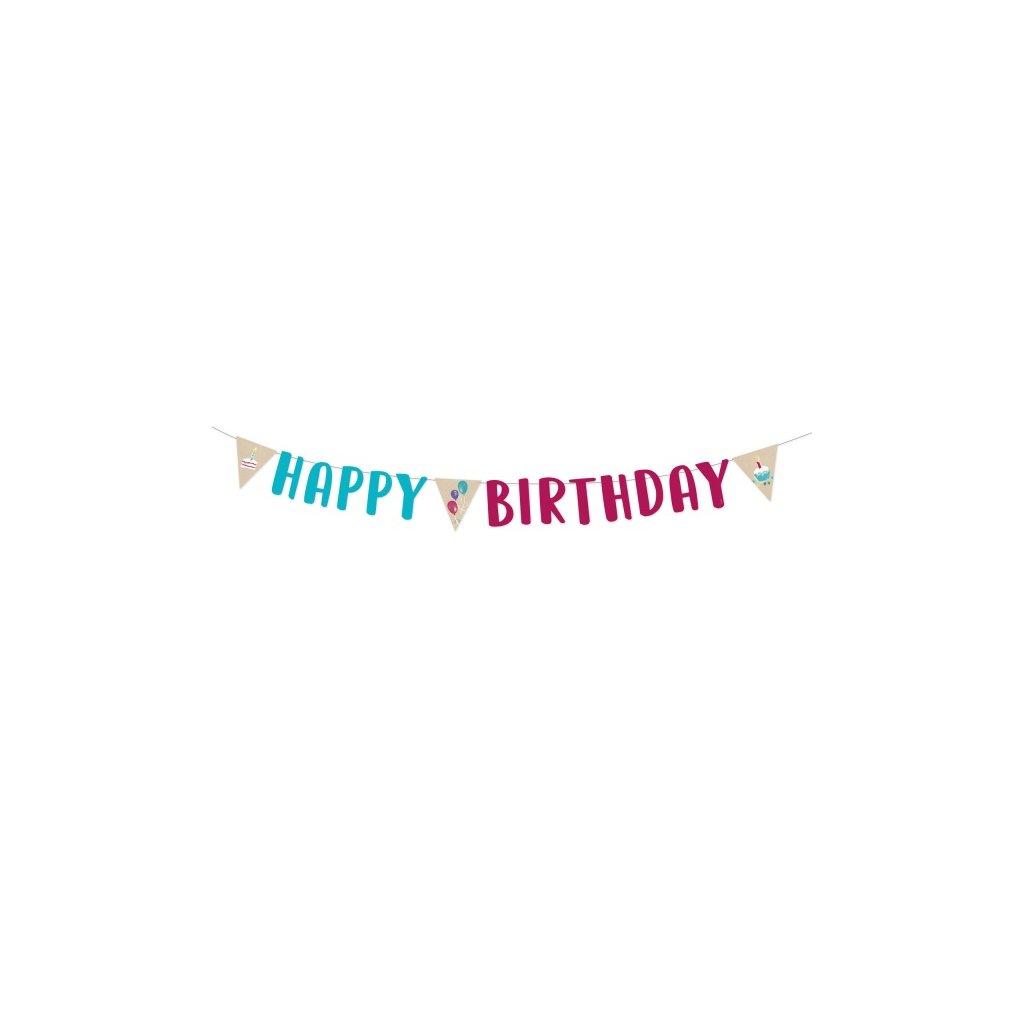 Banner HB My Birthday Party 180cm x 15cm