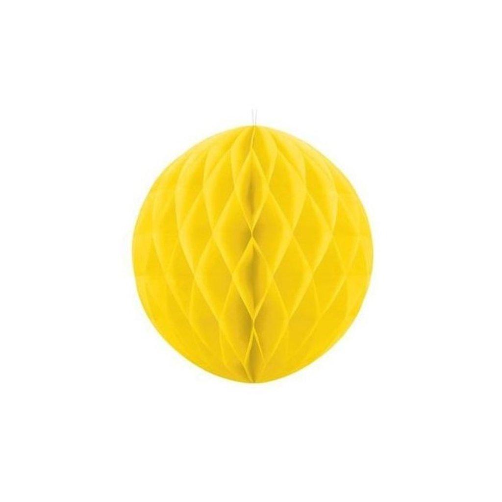 "Koule dekorační ""Honeycomb"" žlutá vel. 30cm"