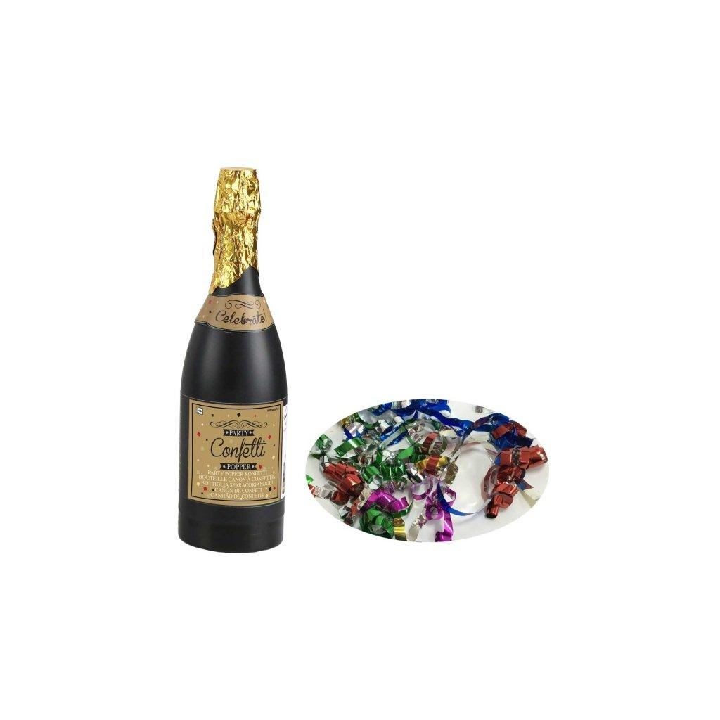 Vystřelovací konfety 33cm Champagne