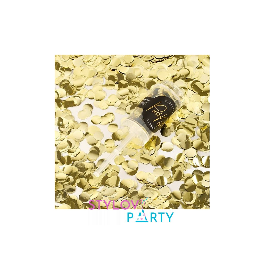 Konfety PushPop gold, 8mm